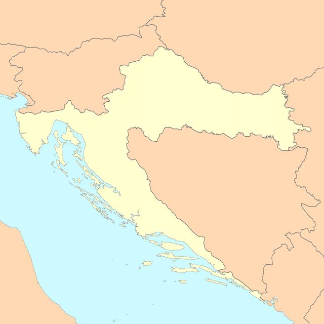 mapa croacia