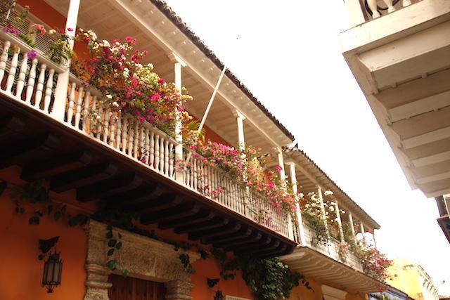Fachadas em Cartagena das Índias