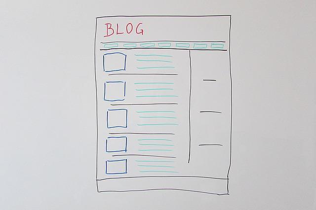 desenho de um layout para blog