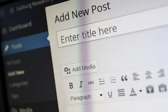 interface do wordpress