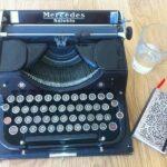 máquina de escrever - blog