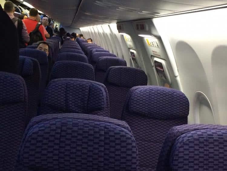Assentos do avião da Copa Airlines