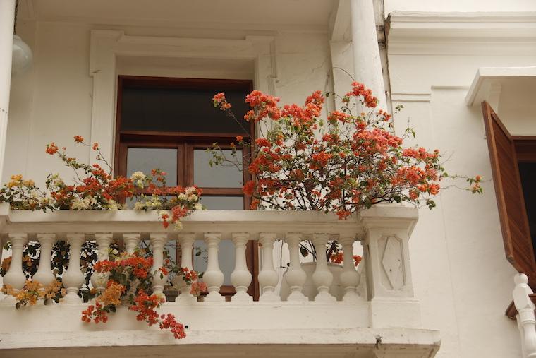 Fachada de casa em Cartagena