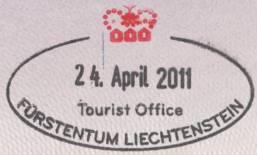 Liechtenstein carimbo no passaporte