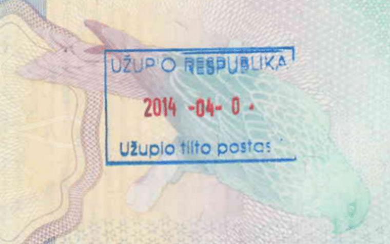 República de Uzupis carimbo lituania