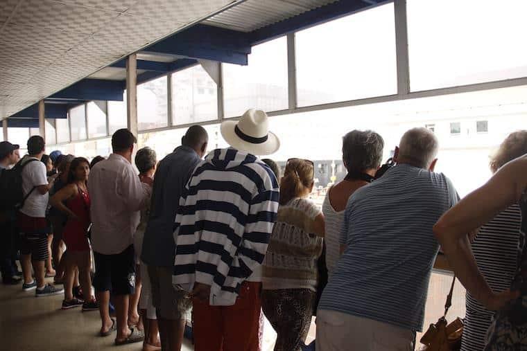 Visitantes no Canal do Panamá