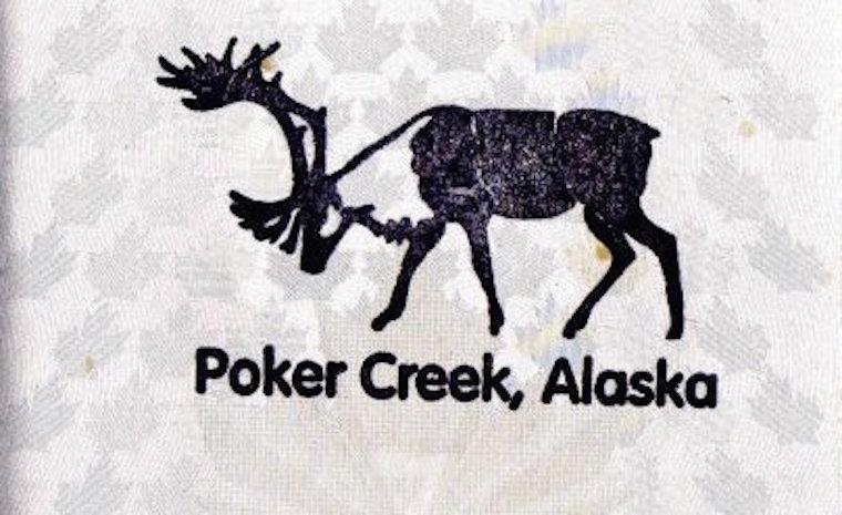Poker Creek, Alaska Carimbo