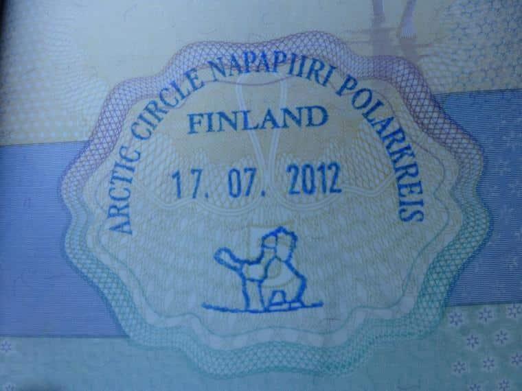 Carimbo do Círculo Polar Ártico, Finlândia