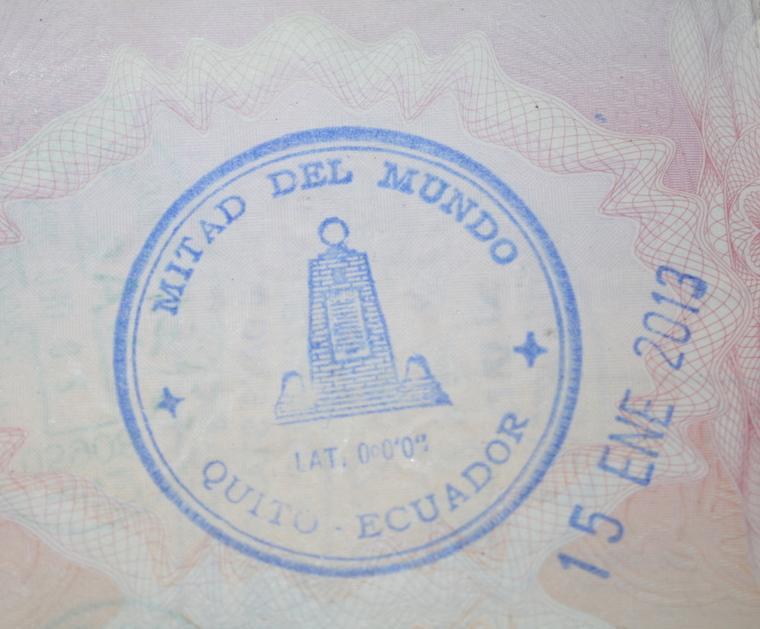 Ciudad de la Mitad del Mundo - Ecuador (Carimbo)