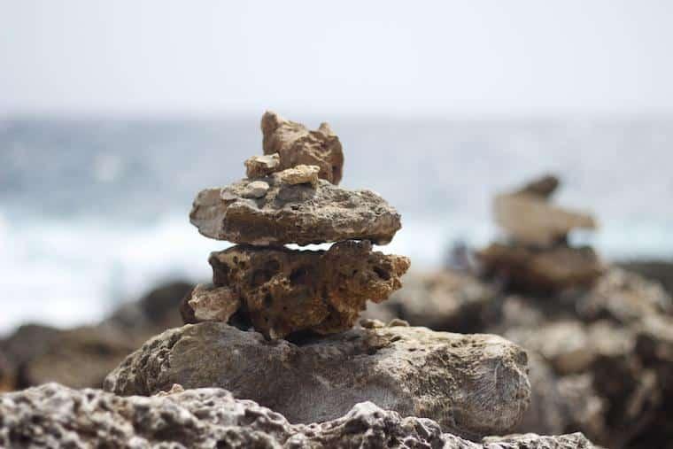 Esculturas de pedras em Aruba