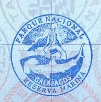 Carimbo de Galápagos, Ecuador