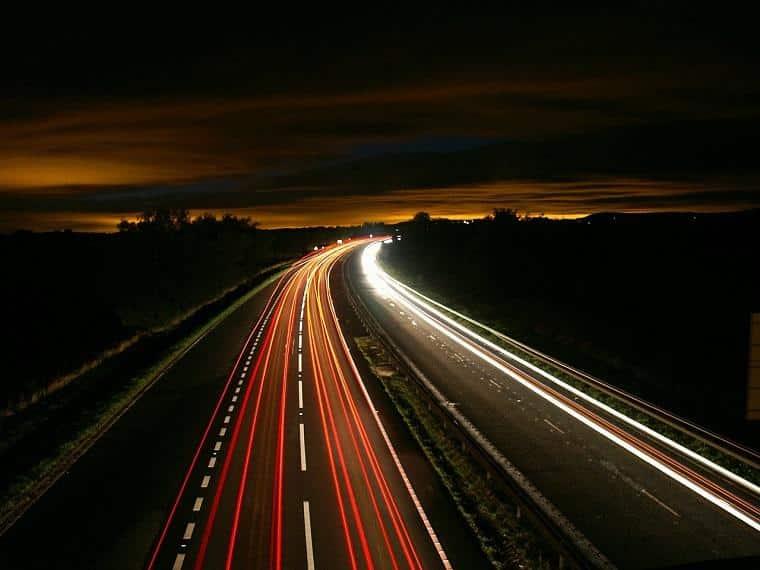 luzes de carros