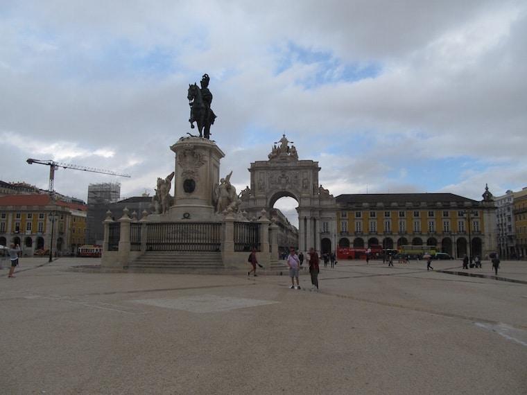 Praça do Comércio em Lisboa Portugal