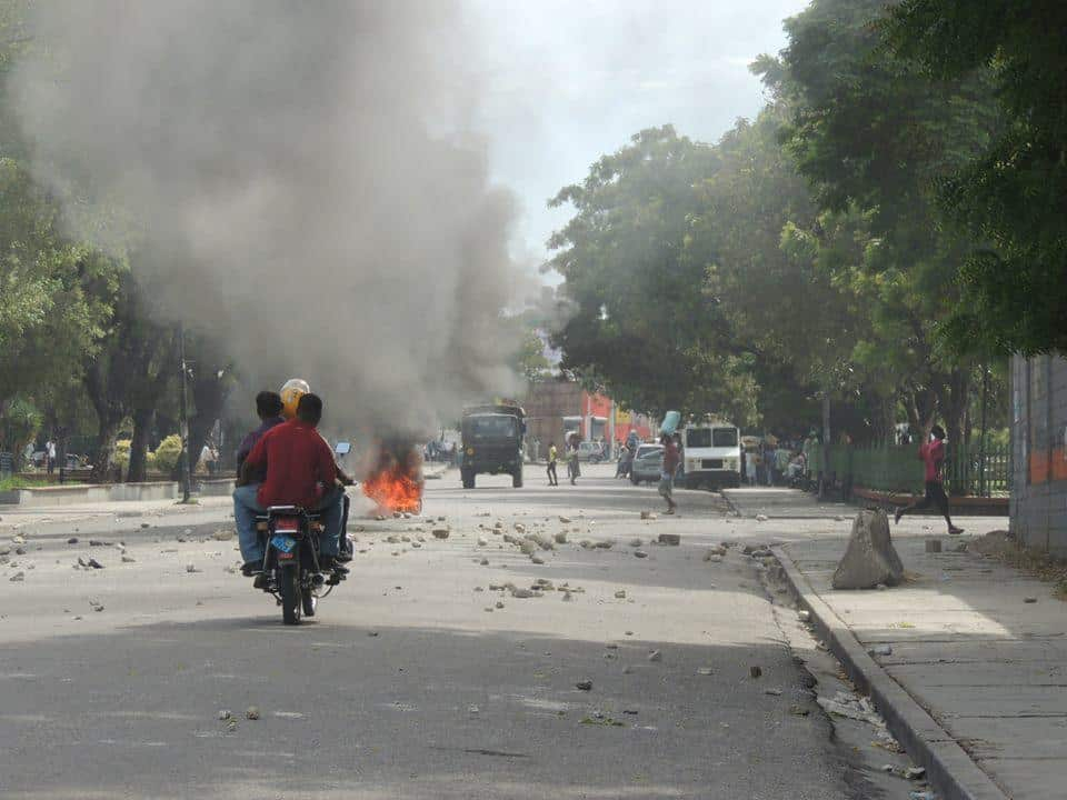 protesto no haiti