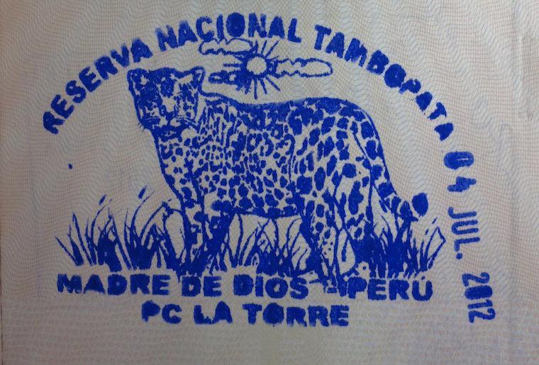 Reserva nacional Tambopata, Peru - Carimbo