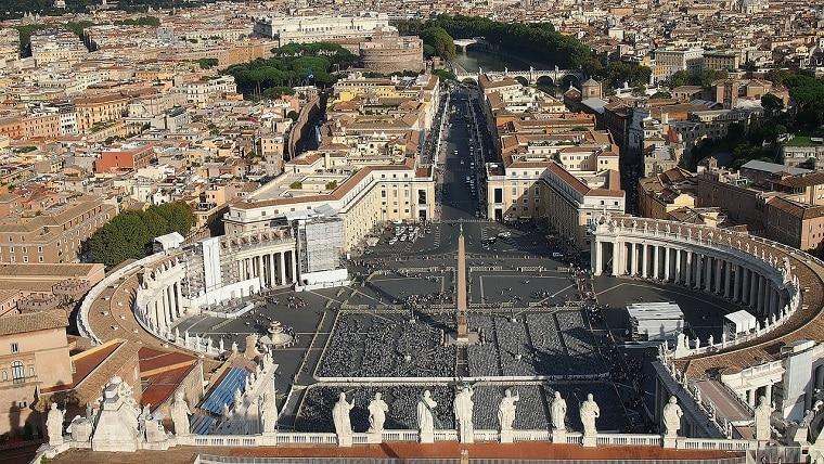 Vista do Vaticano, em roma