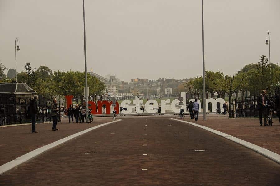 Letreiro Amsterdam