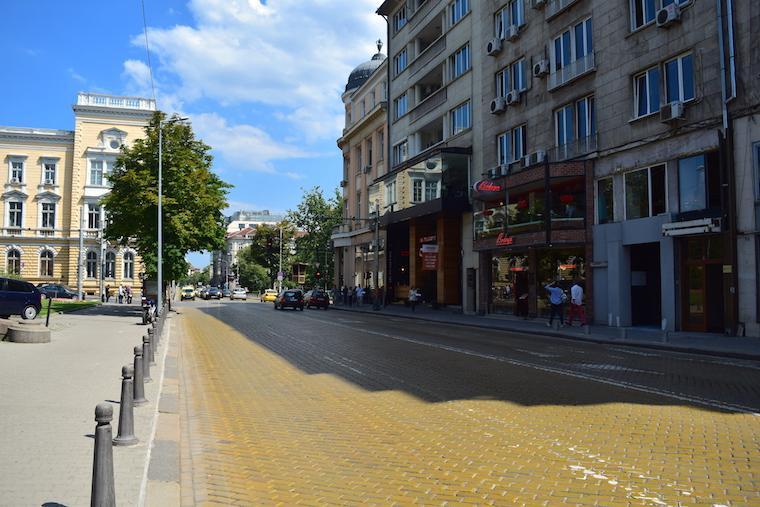 Onde ficar em Sofia Bulgaria tijolos amarelos