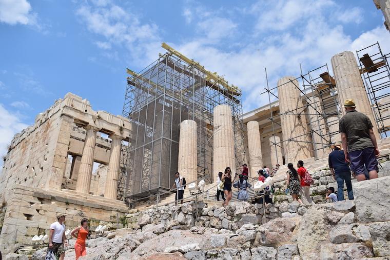 Acrópole de Atenas Grécia colunas