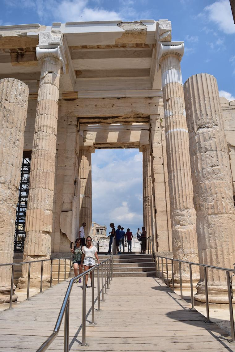 Acrópole de Atenas Grécia entrada