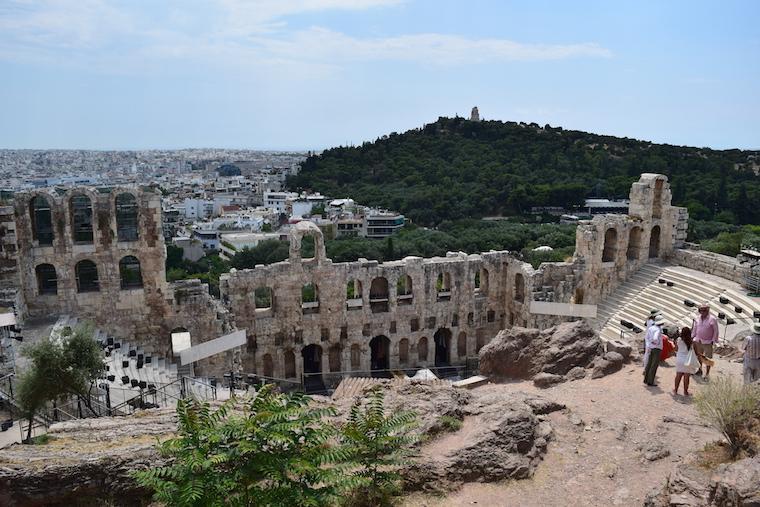 Acrópole de Atenas Grécia odeão