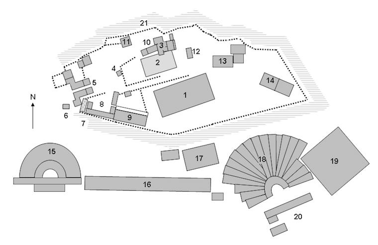 Plano da Acrópole de Atenas