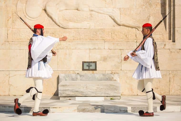 O que fazer em Atenas guardas