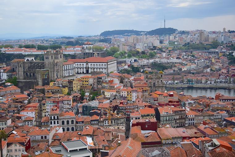 O que visitar no Porto vista torre dos clerigos