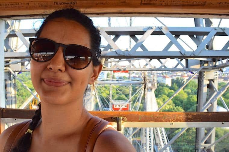 Viajar sozinho selfie Luiza
