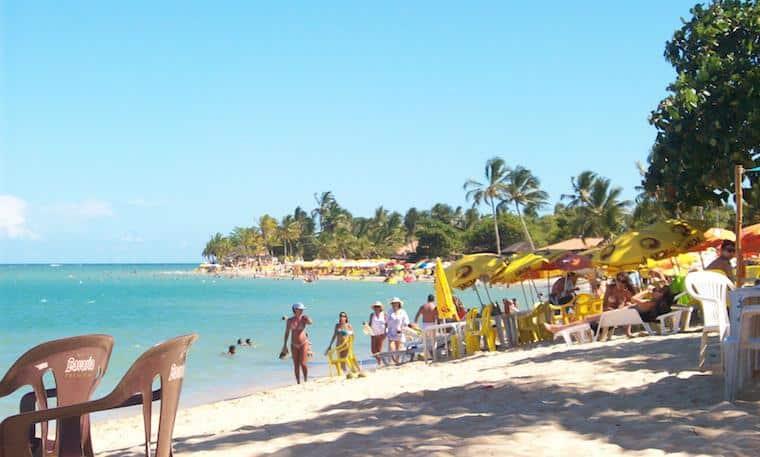 Praia em Porto Seguro, Bahia