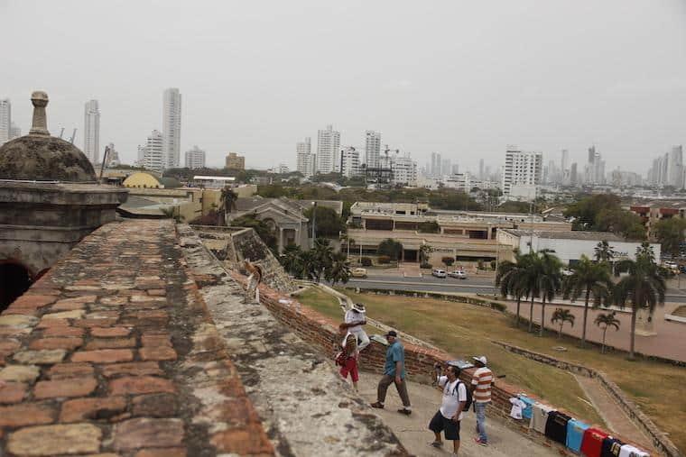 Vista do Castelo San Felipe de Barajas - Cartagena das Índias