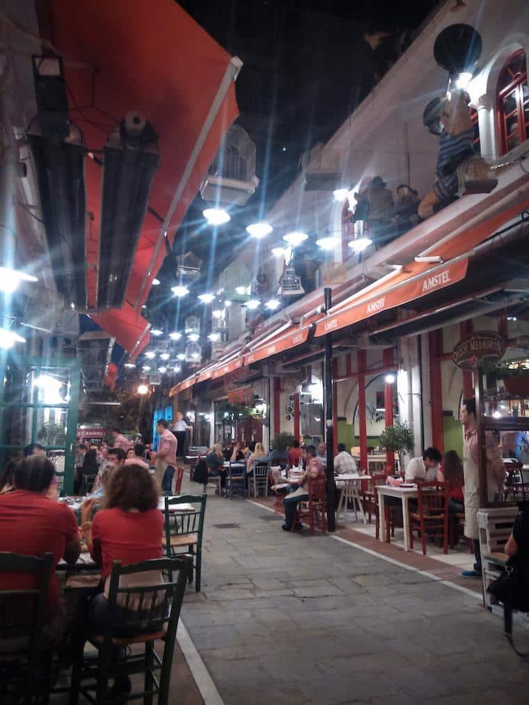 Tessalônica Grécia rua noite