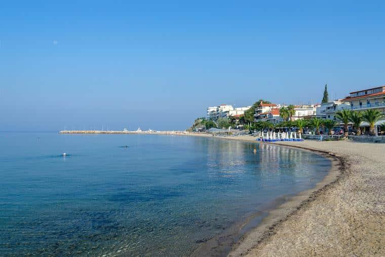 Nea Kallikratia praias na grécia