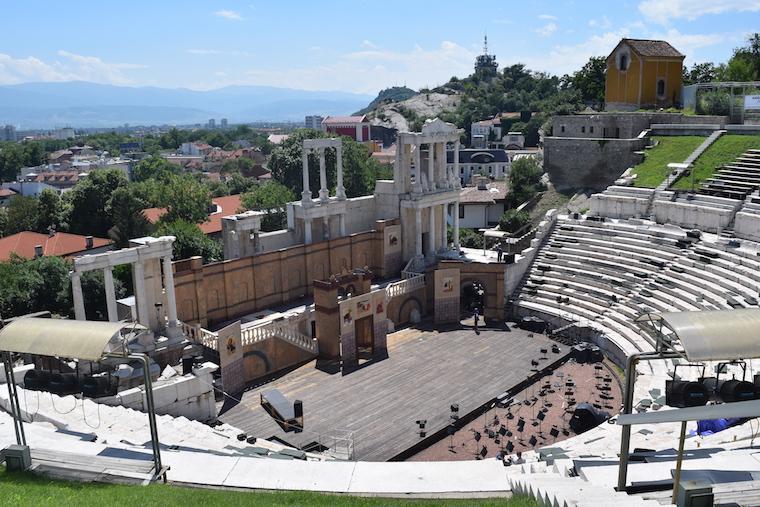 Plovdiv Bulgária Anfiteatro