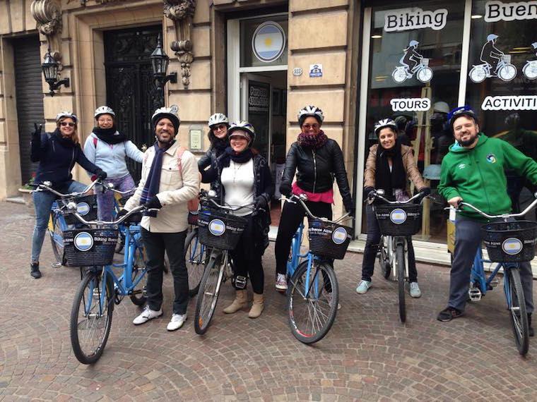 Passeio de bicicleta em Buenos Aires