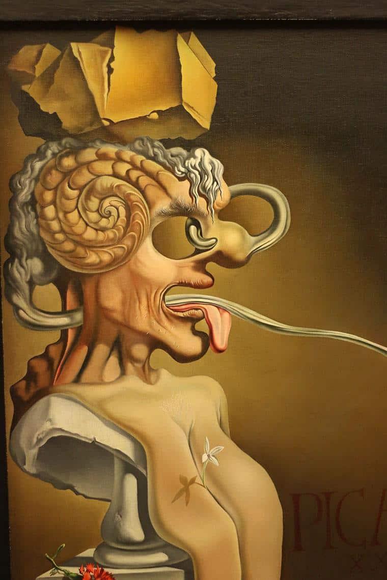 retrato de picasso, de Dalí
