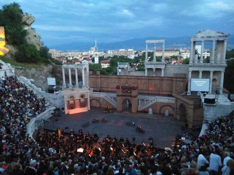 ópera plovdiv bulgária orquestra