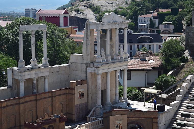 plovdiv bulgária detalhe anfiteatro