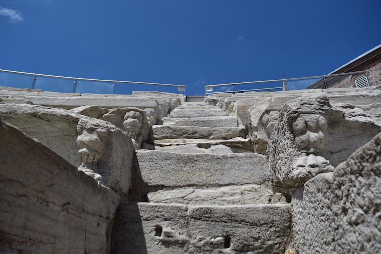 plovdiv bulgária detalhe estadio romano