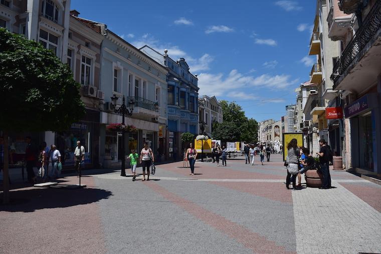 rua centro plovdiv bulgária