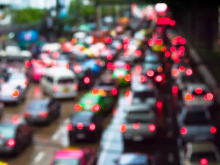 trânsito nas grandes cidades