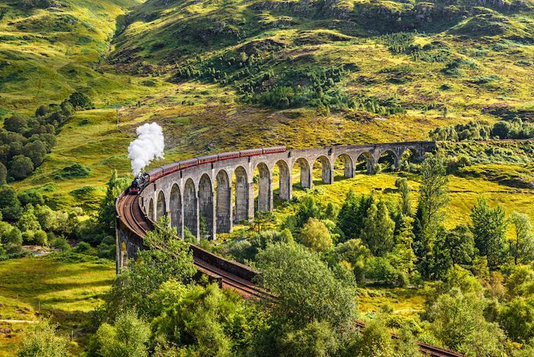 viajar de trem na europa hogwarts