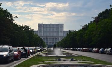Palácio do Parlamento de Bucareste e a revolução na Romênia