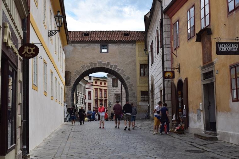 Cesky Krumlov República Tcheca arcos cidade