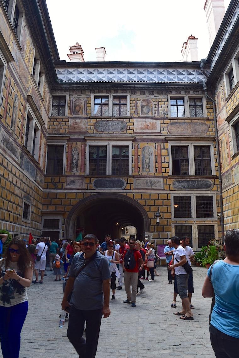 Cesky Krumlov República Tcheca dentro castelo