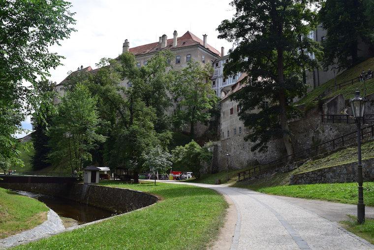 Cesky Krumlov República Tcheca jardins do castelo
