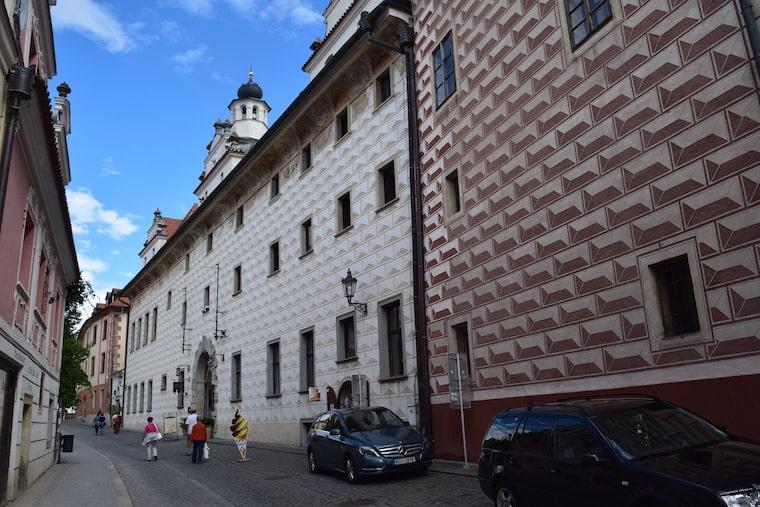 Cesky Krumlov República Tcheca prédios pintados