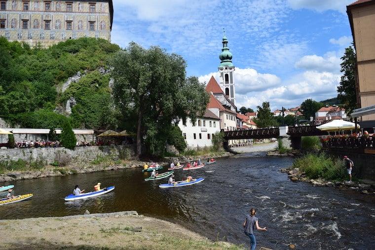 Cesky Krumlov República Tcheca rio e castelo