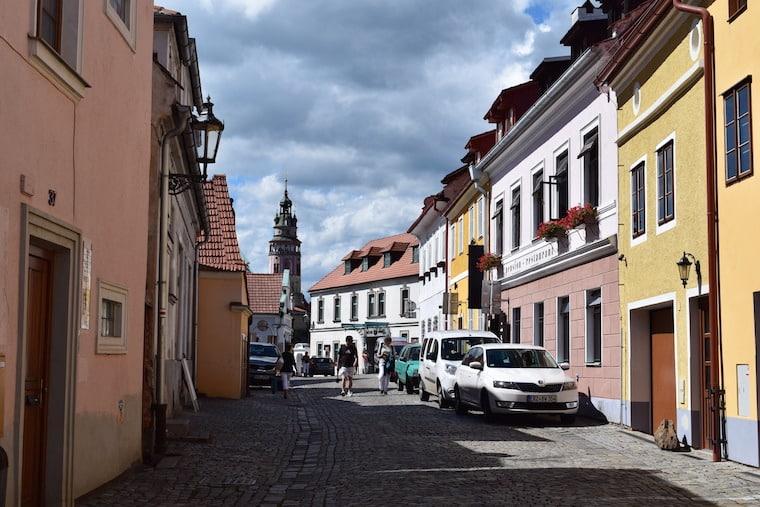 Cesky Krumlov República Tcheca rua