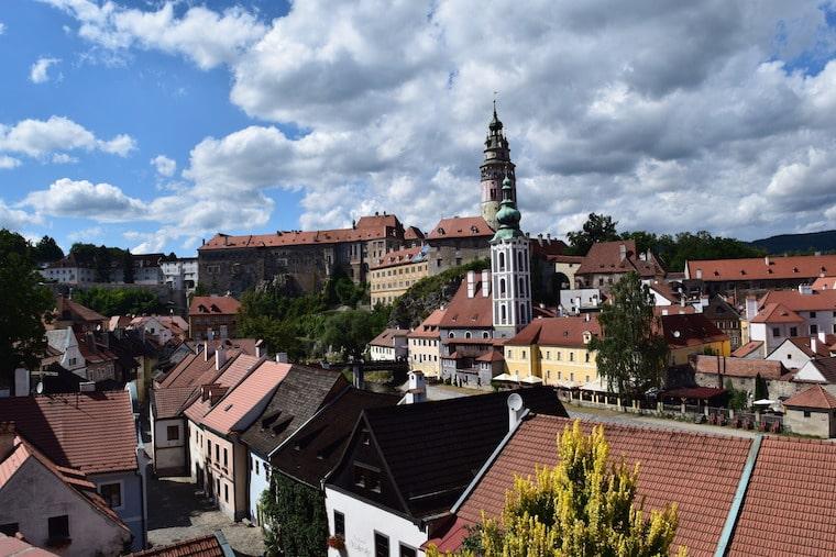 Cesky Krumlov República Tcheca vista dia